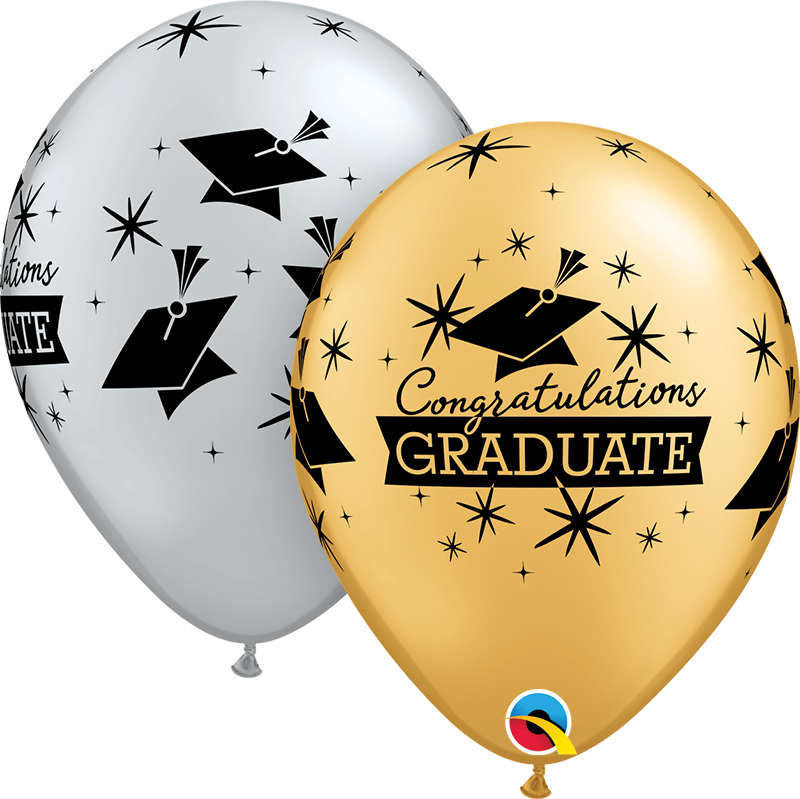 11″ Gold White Congratulations Graduate