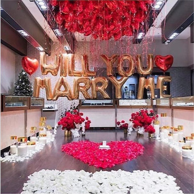 Will You Marry Me (Silver, 40″)