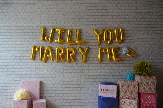 Will You Marry Me (Gold, 16″)